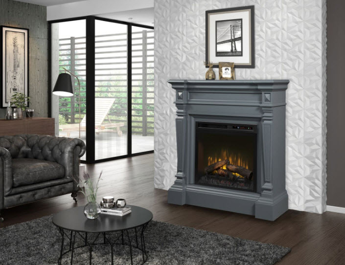 49 Quot Dimplex Heather Electric Fireplace Mantel With Logs
