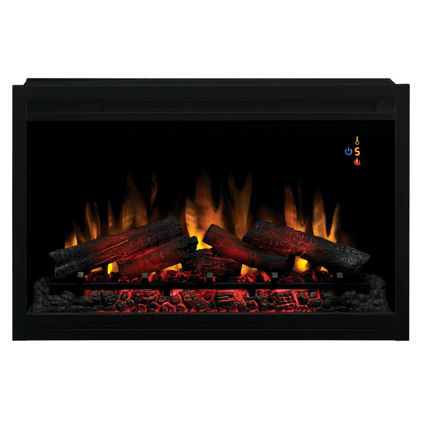 The Builders Box Traditional Electric Fireplace 110V is perfect for any DIY fireplace project.  This builders box can be directed plugged into any 3-prong 120V outlet with included power cord.  Zero-clearance design allows this box to sit flush against dr
