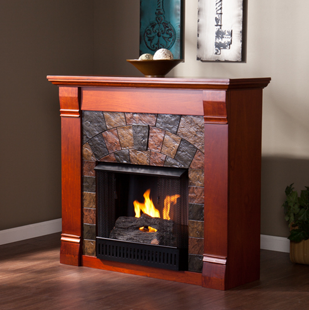 45 5 Elkmont Mahogany Gel Fuel Fireplace FG9281