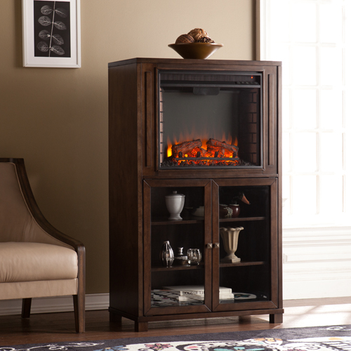 32 5 Quot Allman Electric Fireplace Storage Tower Celia