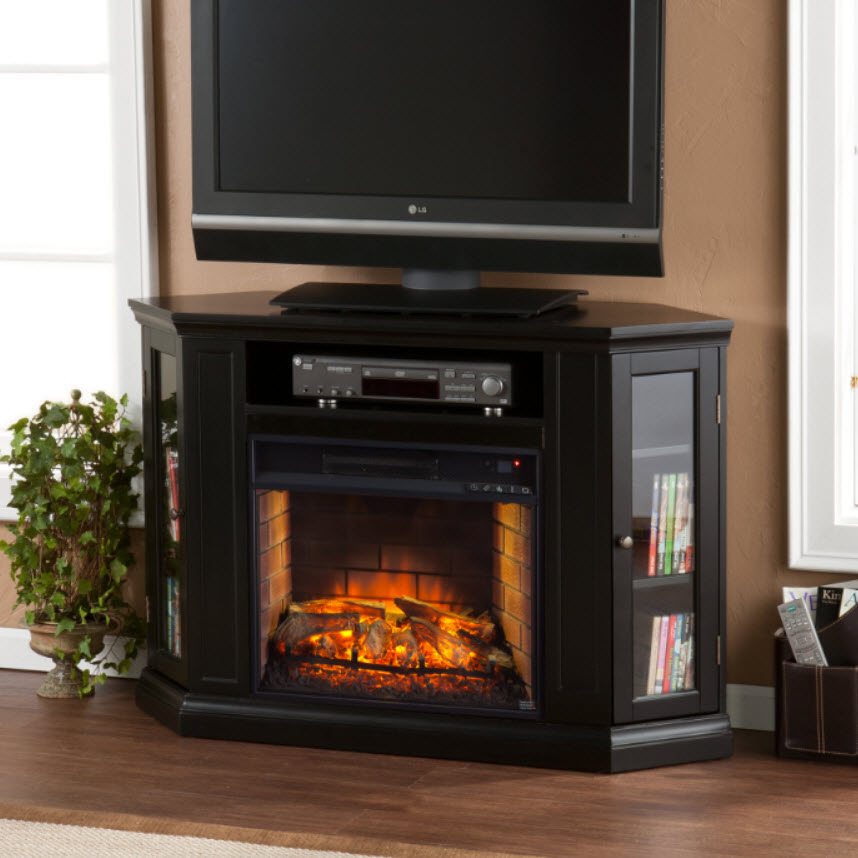 48 Claremont Convertible Media Infrared Fireplace Black Fi9315