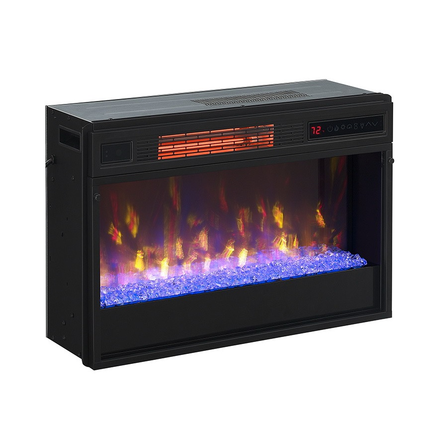 26 3d upgrade infrared spectrafire contemporary for Contemporary fireplace insert