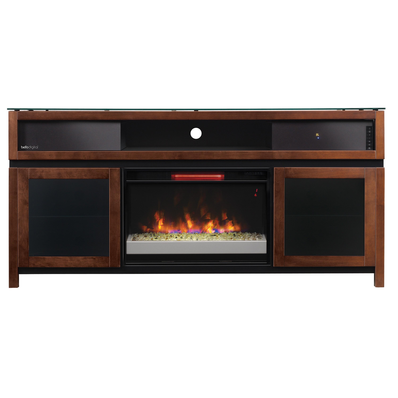 67 Gramercy Chocolate Infrared Media Electric Fireplace W Speaker