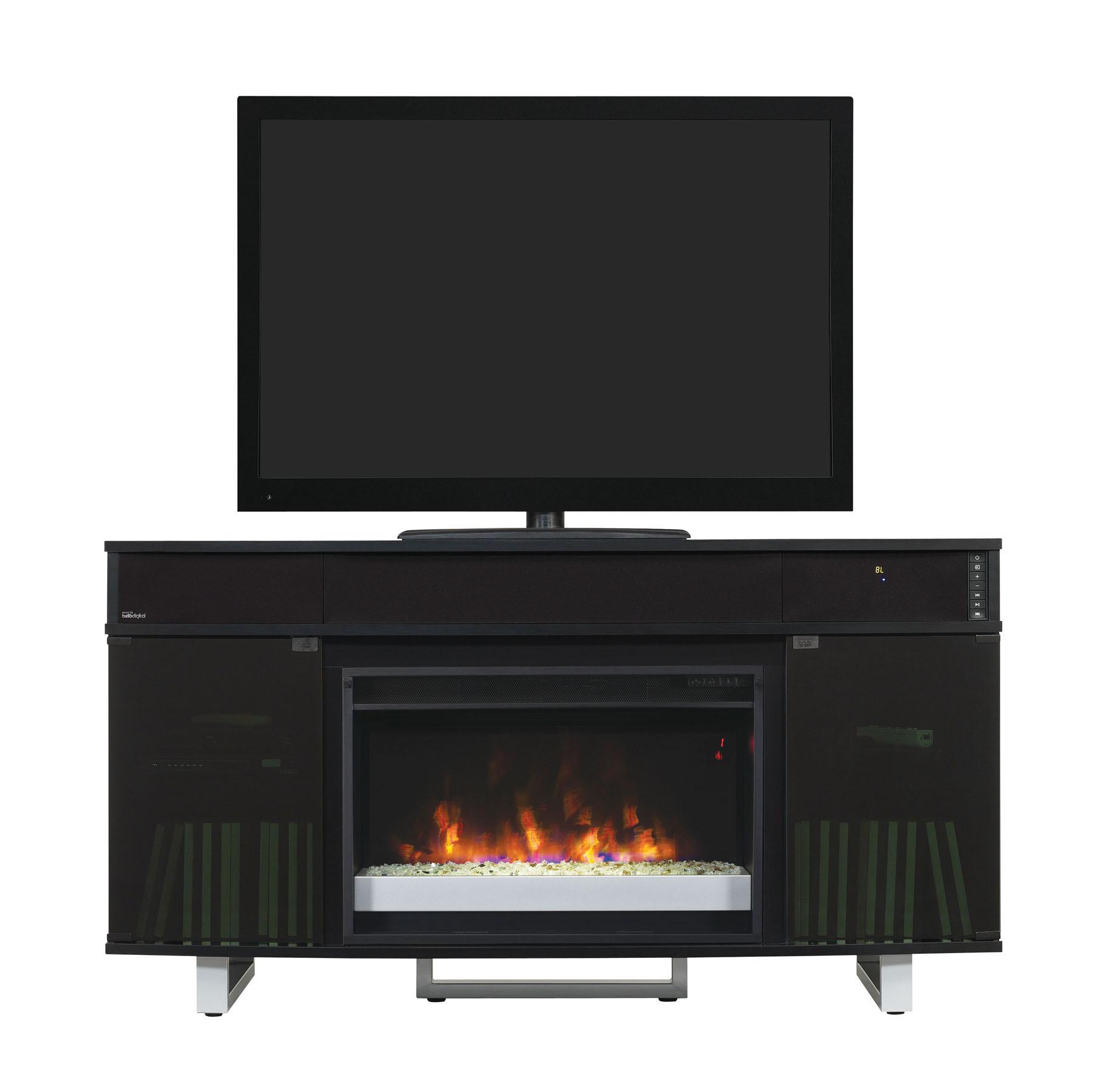 56 new enterprise infrared media electric fireplace w bluetooth speakers. Black Bedroom Furniture Sets. Home Design Ideas
