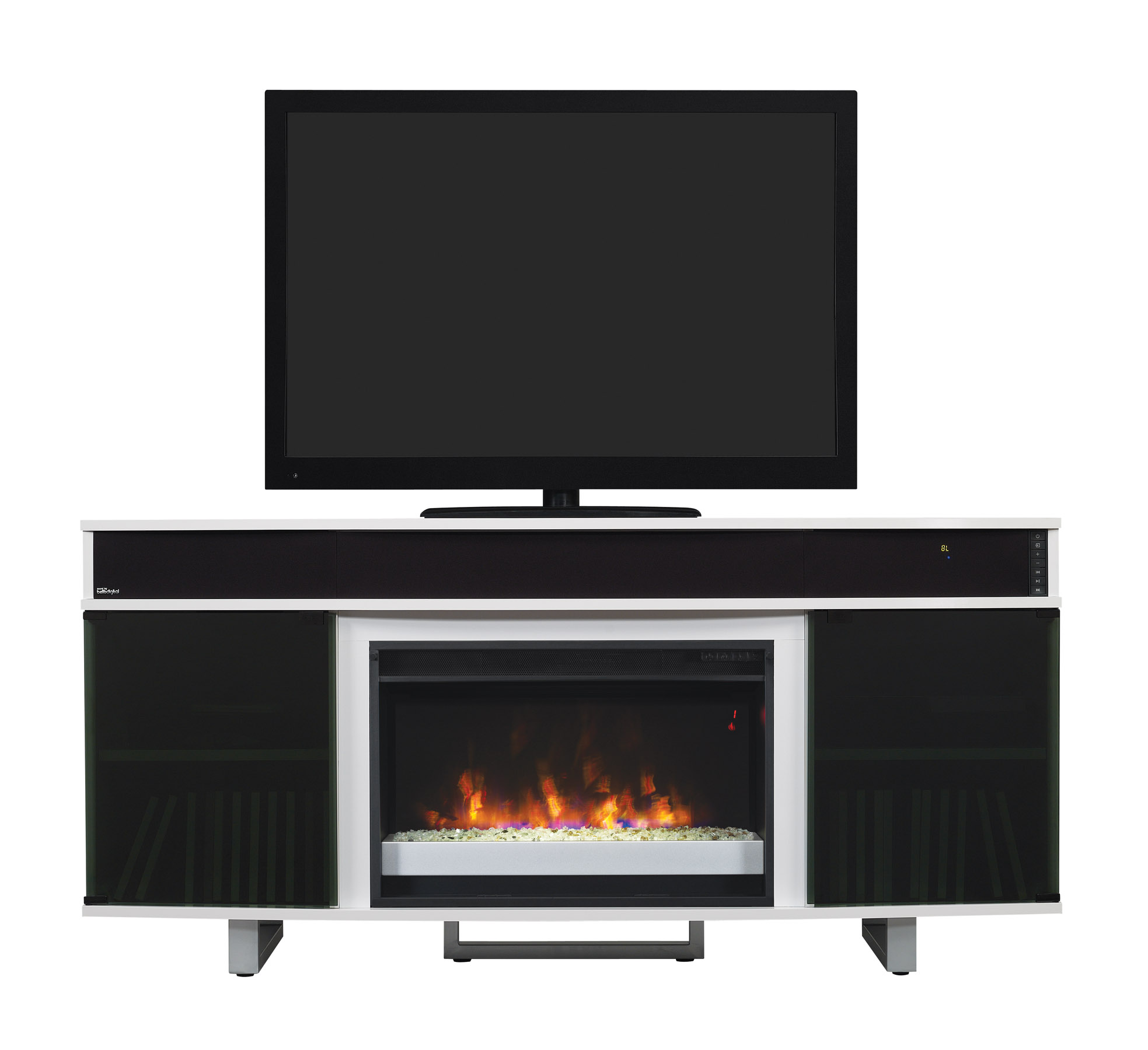 64 Quot New Enterprise White Infrared Media Electric Fireplace
