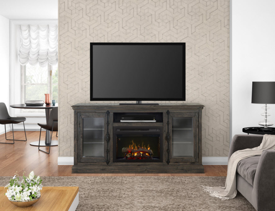 68 Quot Dimplex Ashton Real Log Or Acrylic Ice Media Console