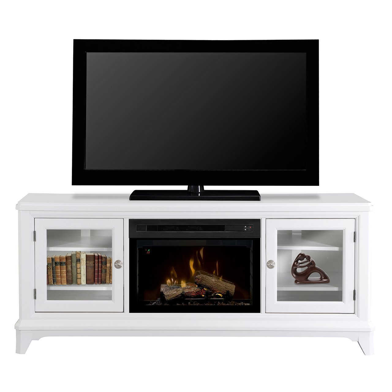 70 dimplex winterstein white media console fireplace White media console