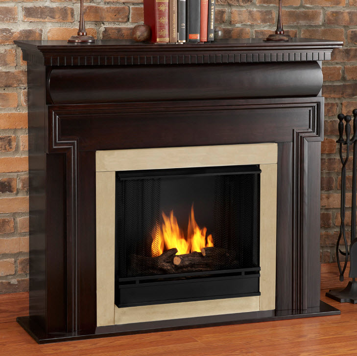 fireplaces real flame fireplaces 48 washington gel fuel