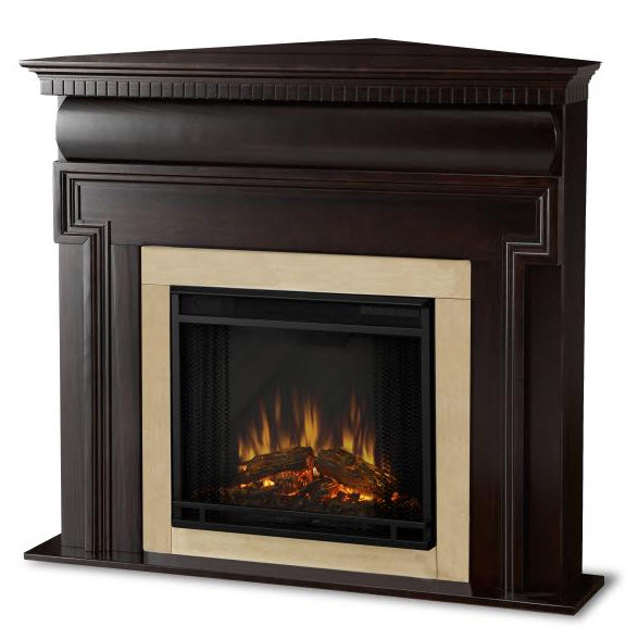 fireplaces 48 washington dark walnut corner electric fireplace