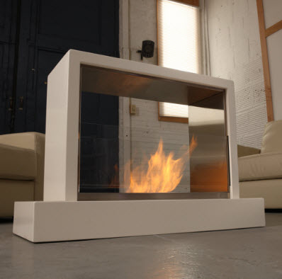Electric fireplaces from for Ventless fireplace modern