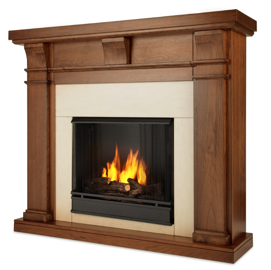 49 9 Porter Walnut Slim Gel Fireplace
