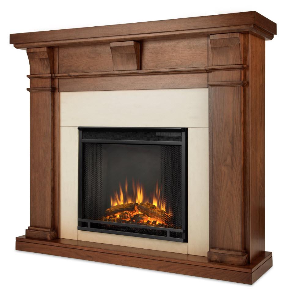 49 9 porter walnut slim electric fireplace
