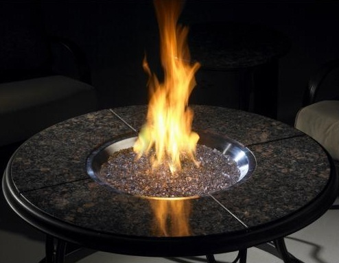 42 Chat Granite Fire Pit Table