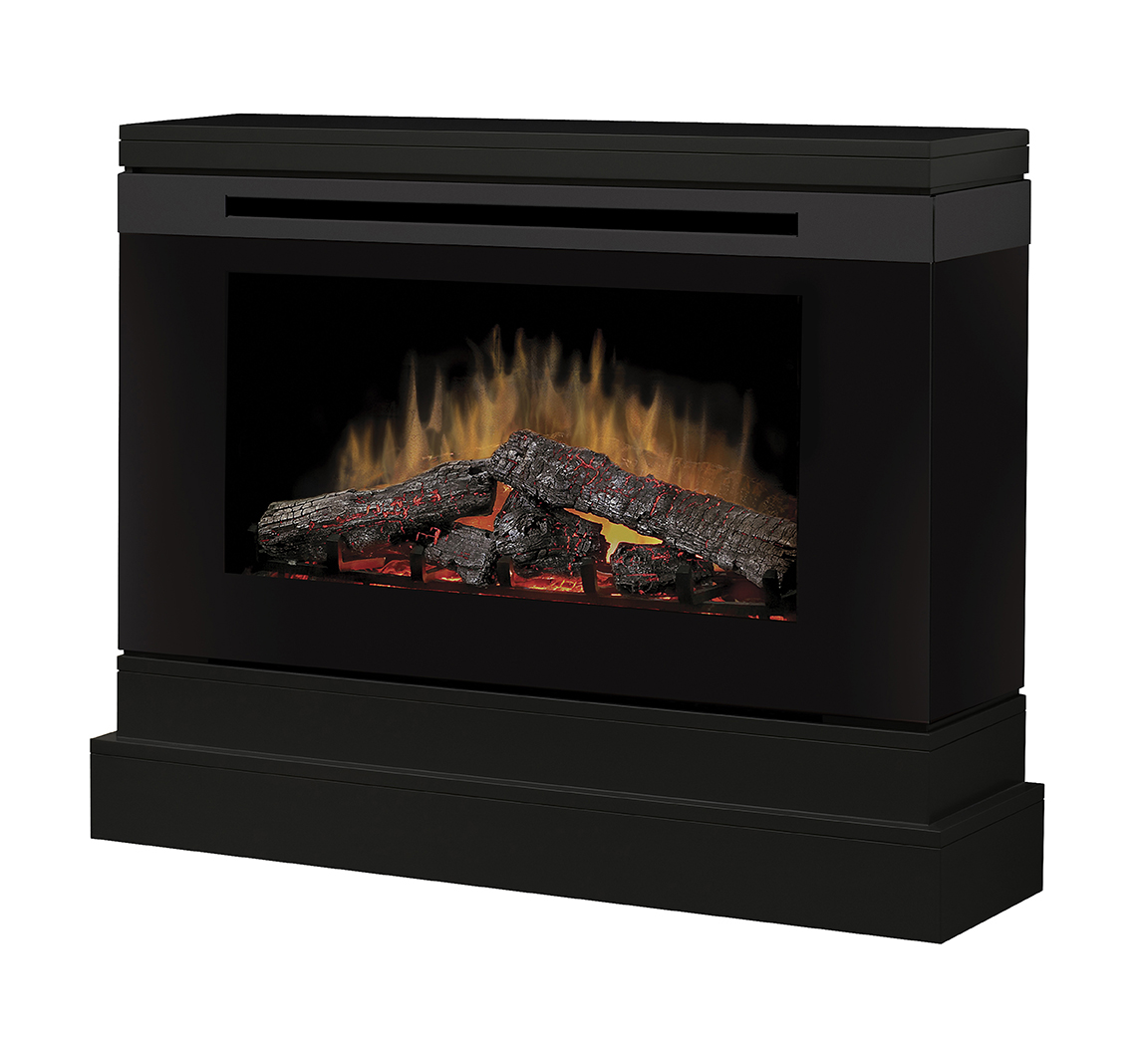 white electric fireplace entertainment