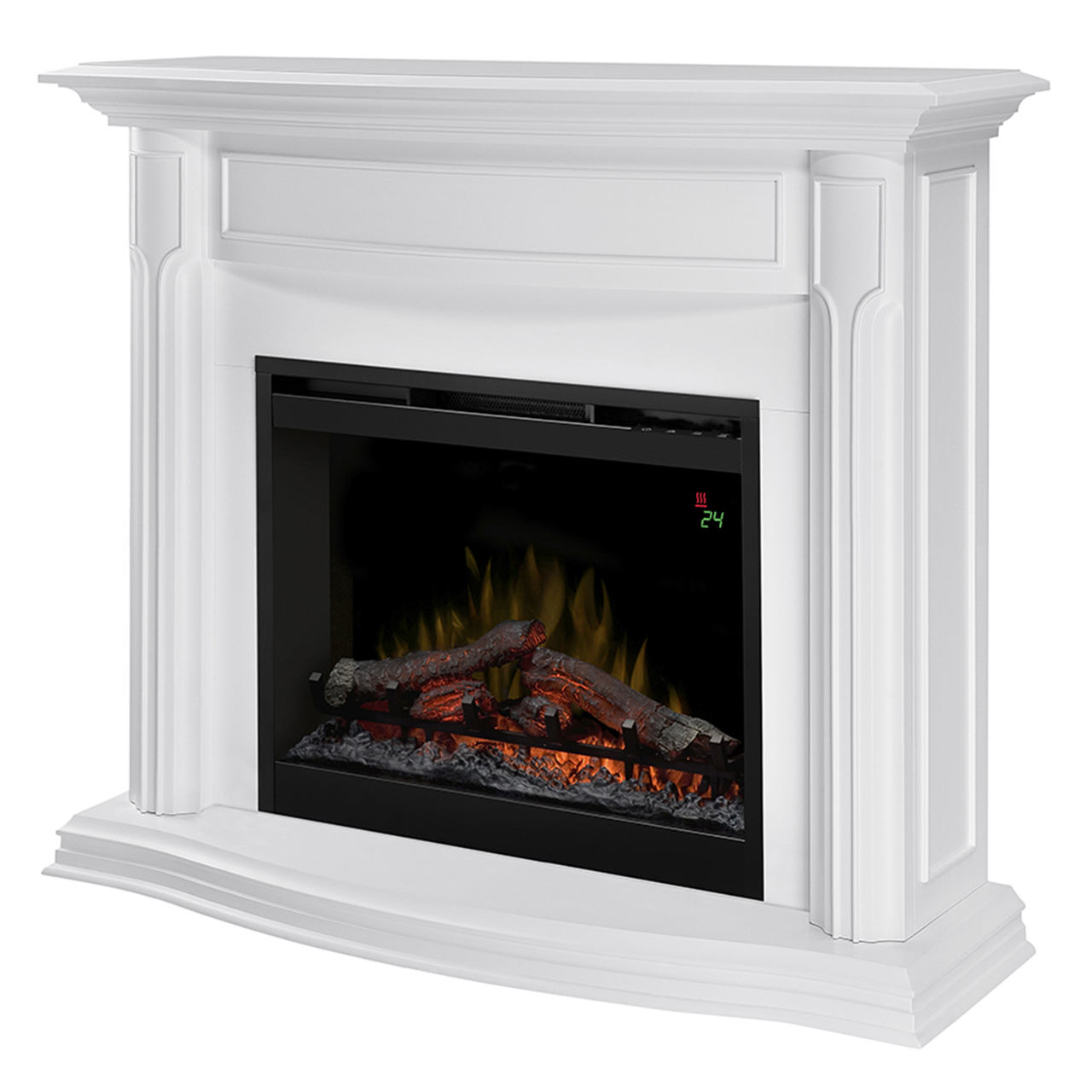 Dimplex Gwendolyn White Mantel Electric Fireplace Dfp26l 1480w