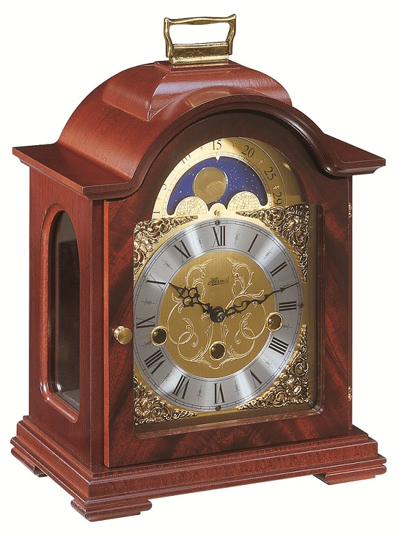 8 Debden Mahogany Mechanical Hermle Mantel Clock