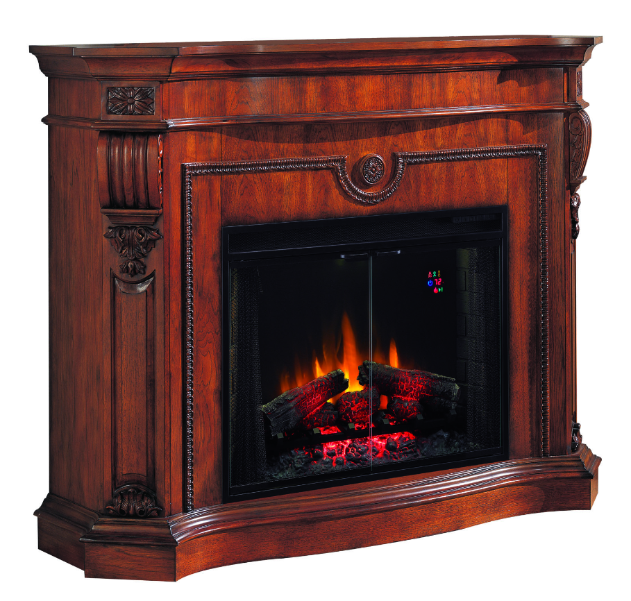 63 39 39 Florence Pecan Cherry Classical Electric Fireplace Portablefireplace