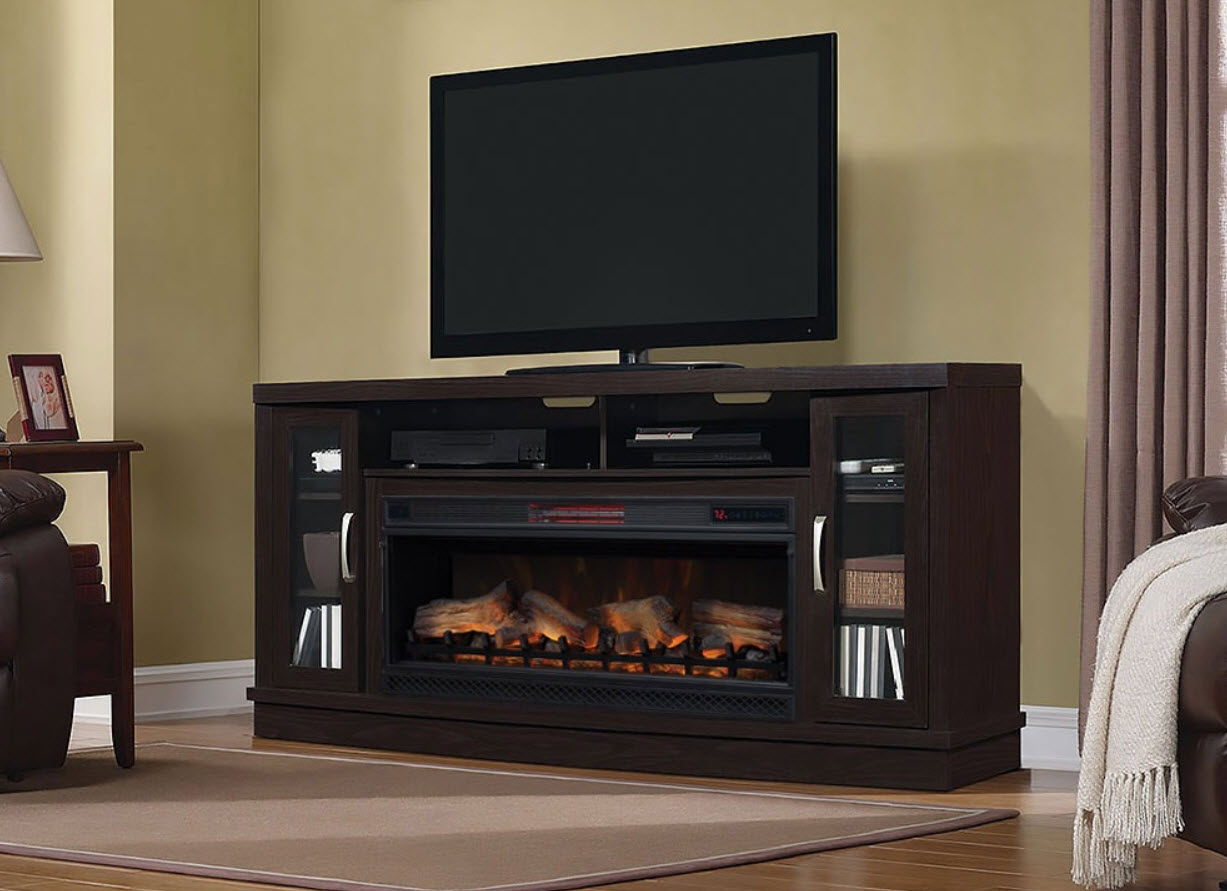 42 Quot Hutchinson Infrared Entertainment Center Oak Espresso