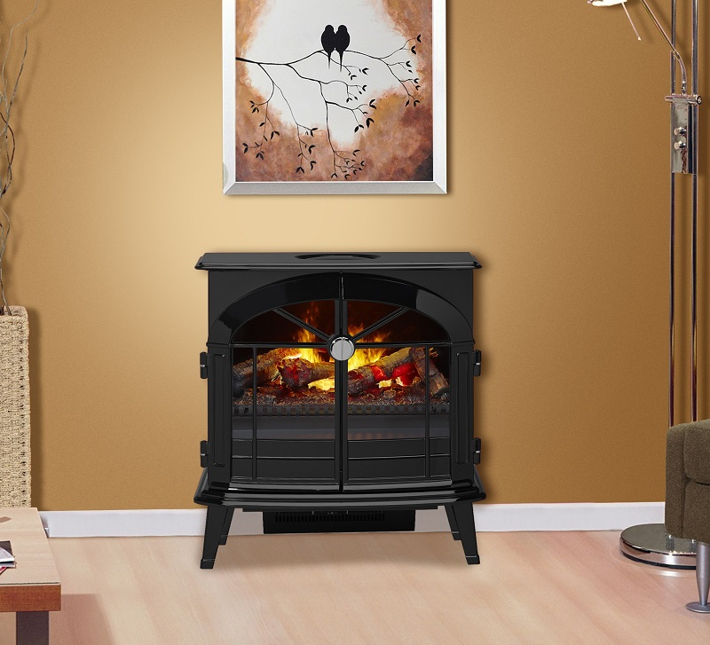 The Stockbridge Electric Stove sets the stage perfectly for the revolutionary Opti-myst® flame and smoke effect.