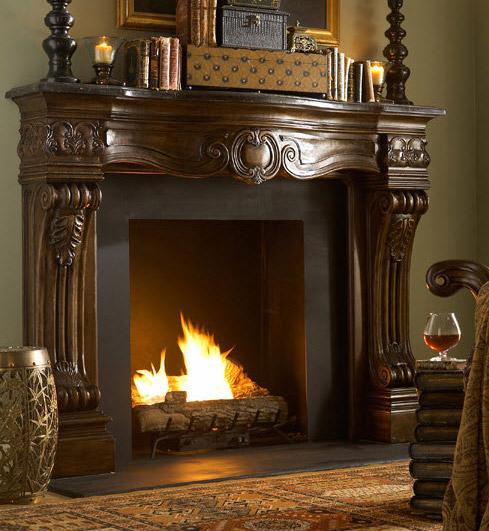 """70"""" Woodard Fireplace Surround"""