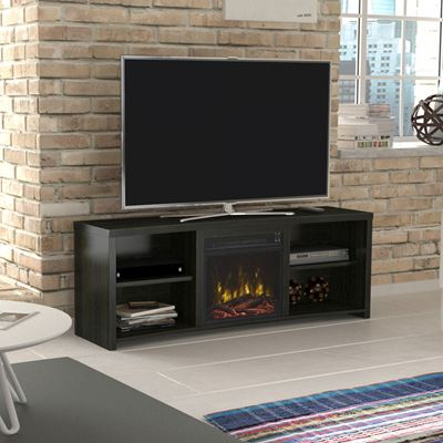 "60"" Shelter Cove Black TV Entertainment Media Stand w ..."