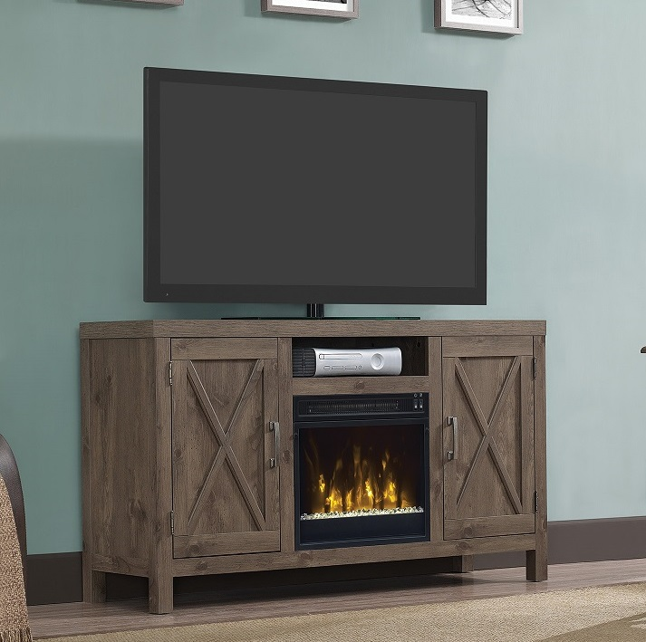"52.5"" Huntington Spanish Gray TV Entertainment Media Stand ..."