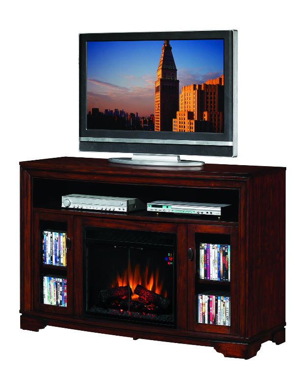empire cherry entertainment center electric fireplace 23mm070 c244