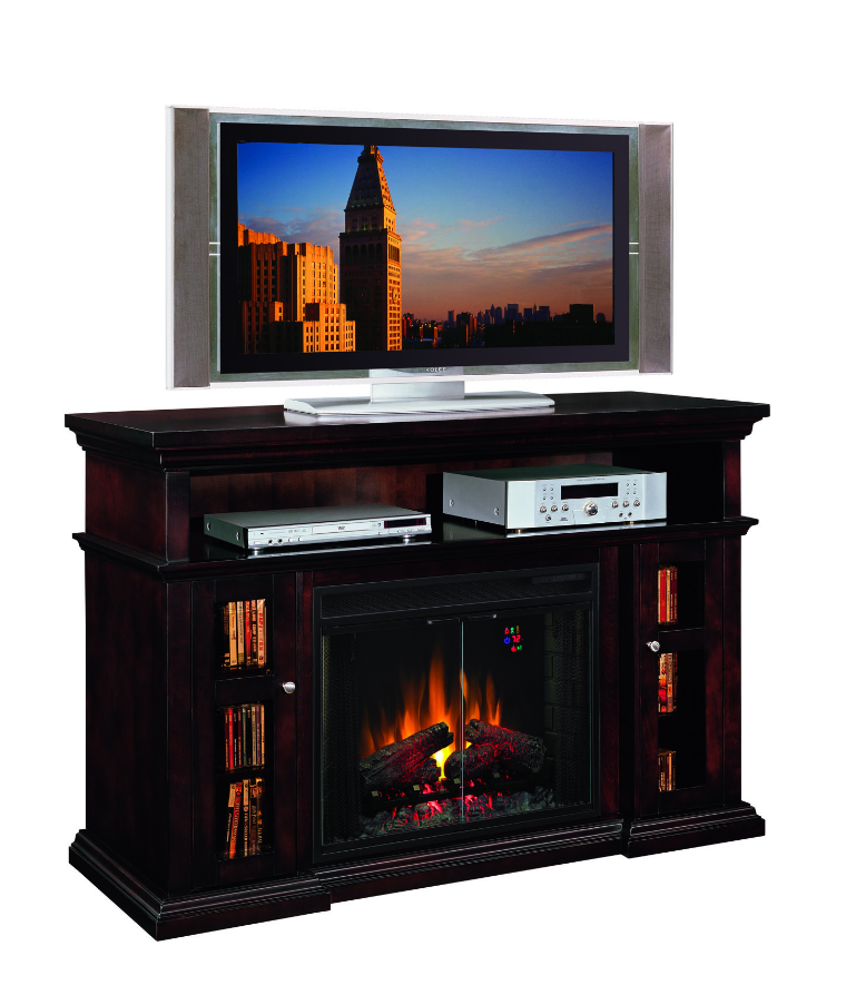 Gas Fireplace Bookcase Entertainment Center Fireplaces