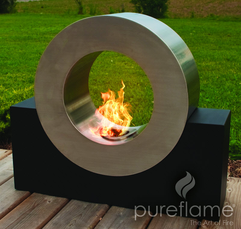 26 8 ring of fire ethanol biofuel fireplace for Ethanol outdoor fire pit