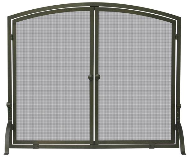 39 single panel bronze finish screen with doors