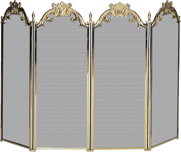 accessories 51 39 39 4 panel cast solid brass fireplace screen