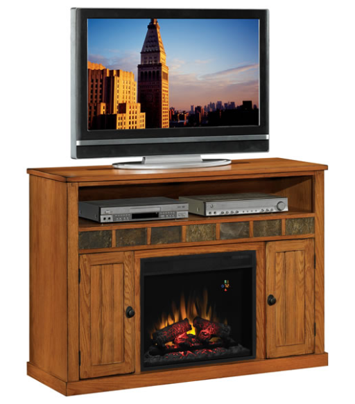 fireplace 52 39 39 sedonia classic oak entertainment center electric