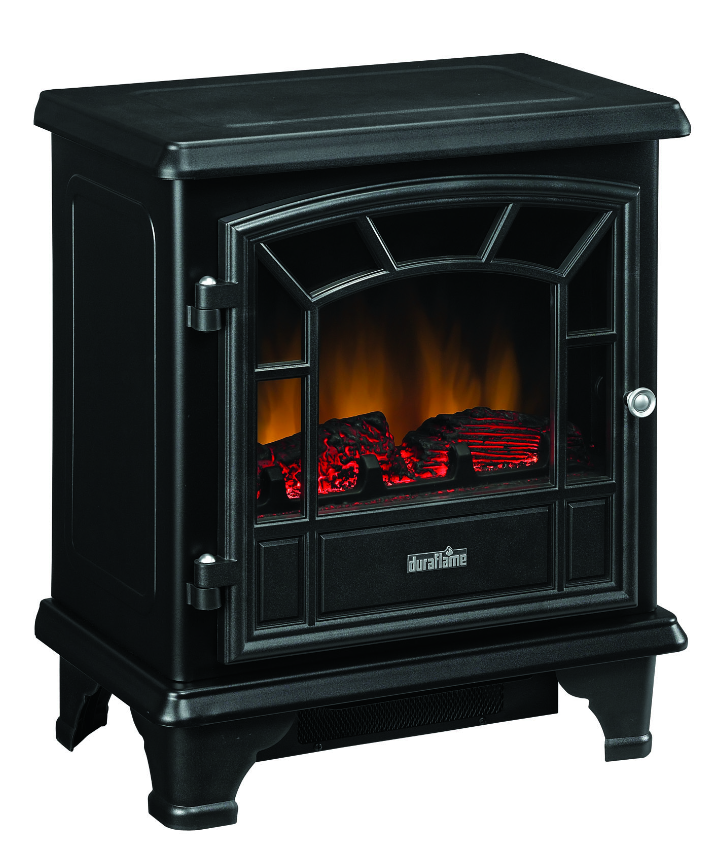 Black Electric Stove ~ Duraflame black stove electric fireplace