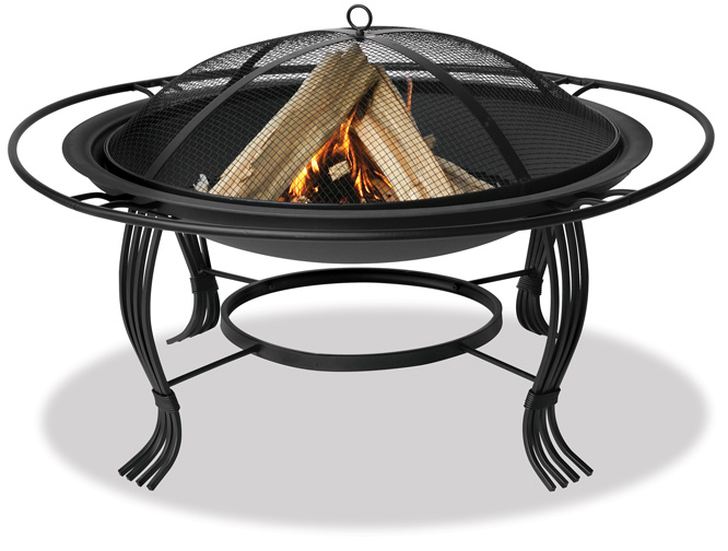 34.6'' Black Outdoor Firebowl