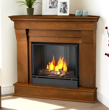 40 94 quot chateau espresso corner gel fireplace
