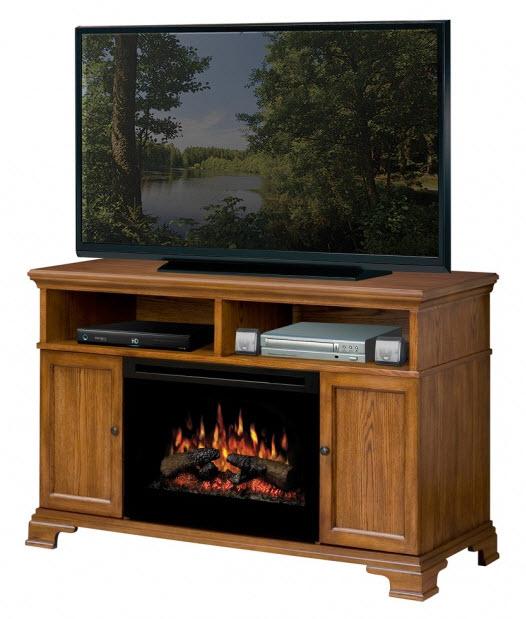 52 75 Quot Dimplex Brookings Oak Entertainment Center Fireplace