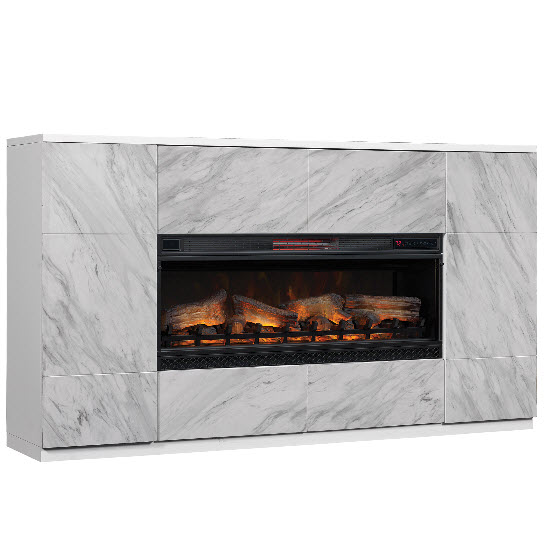 72 Quot Coperto Pearl White Faux Marble Tv Stand Infrared