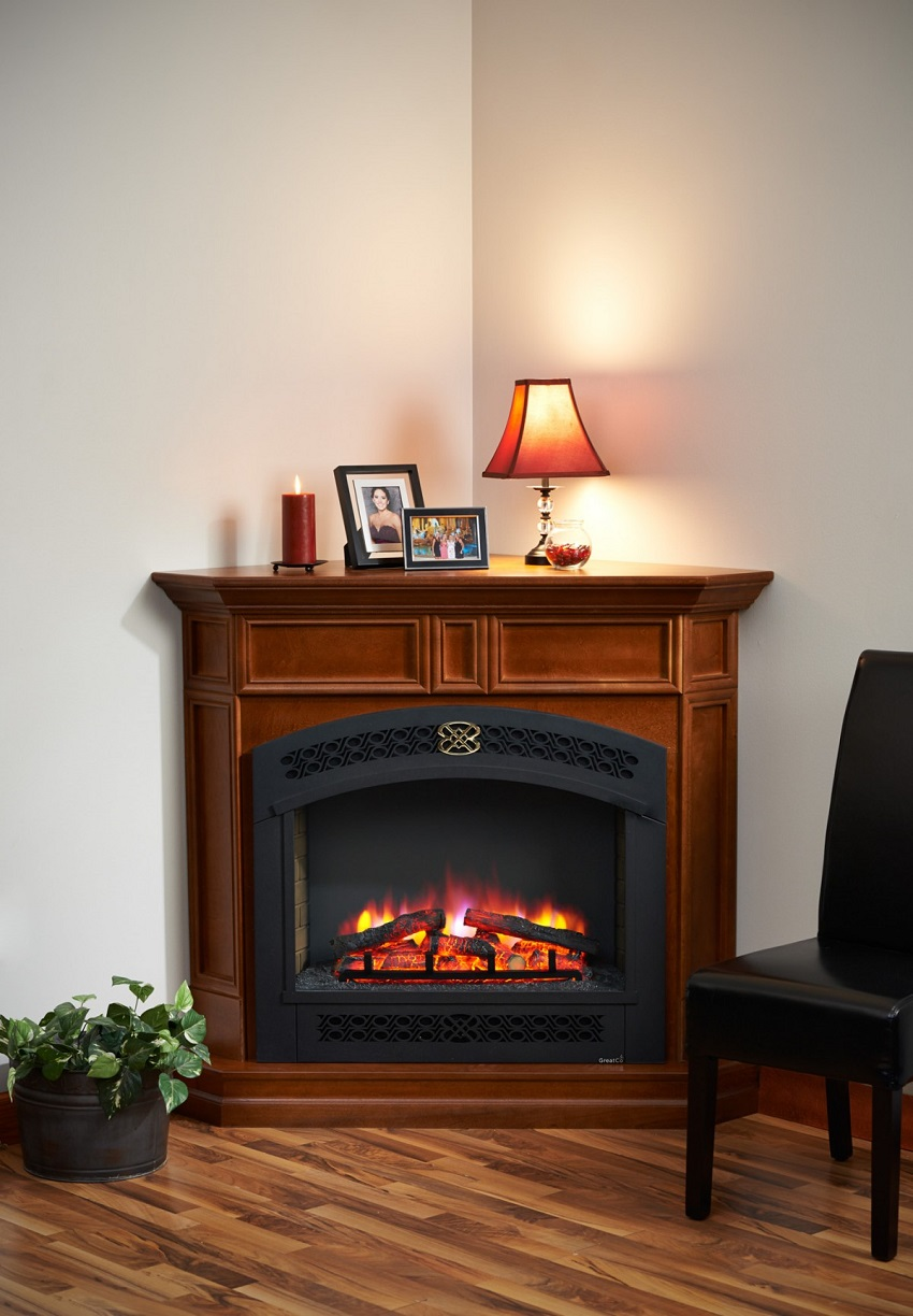 51 Quot Columbia Corner Full Arch Front Electric Fireplace