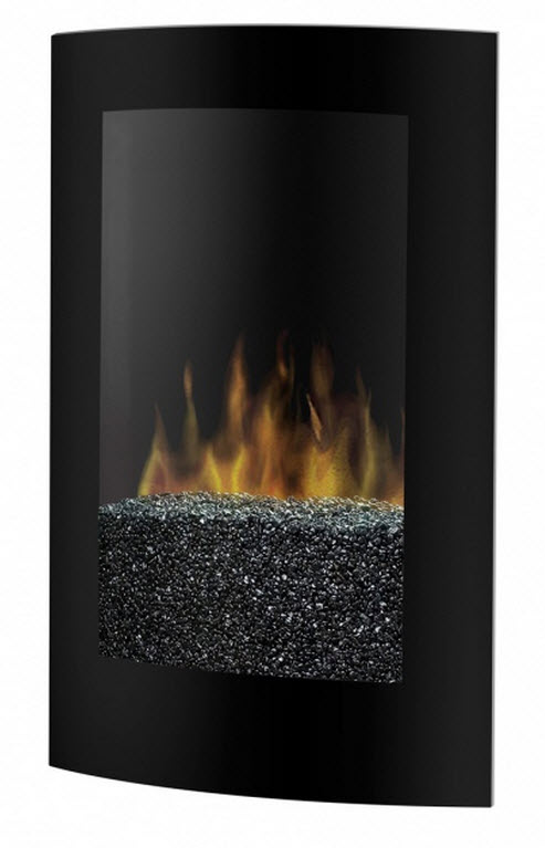 22 75 Quot Dimplex Convex Black Electric Wall Fireplace