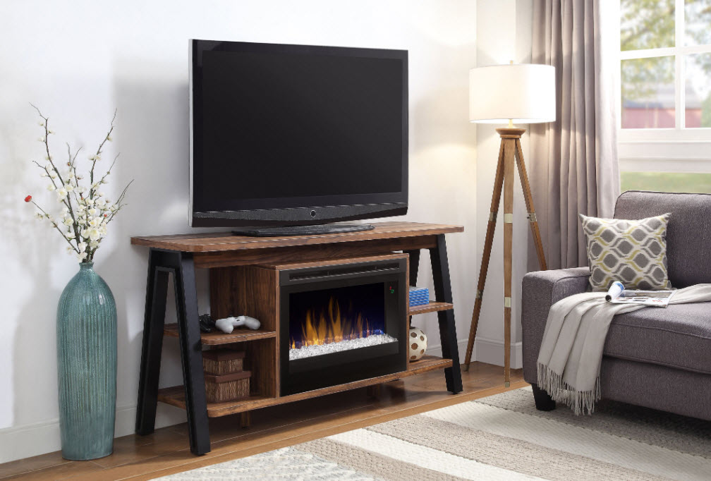 55 dimplex fiona media console fireplace with glass ember - Going to bed with embers in fireplace ...