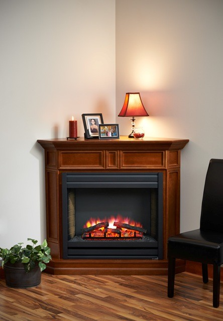 51 Quot Columbia Corner Louvre Front Electric Fireplace