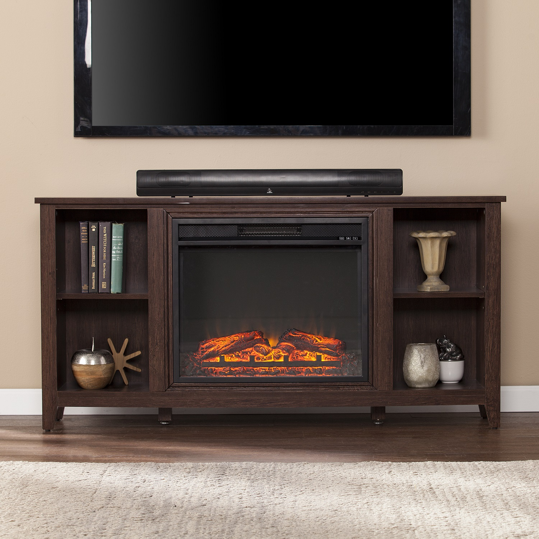 55 1 2 parkdale electric fireplace tv stand espresso. Black Bedroom Furniture Sets. Home Design Ideas