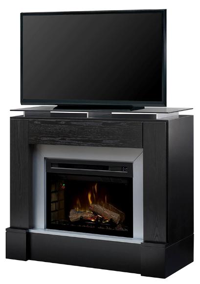 48 Dimplex Jasper Black Media Console Fireplace