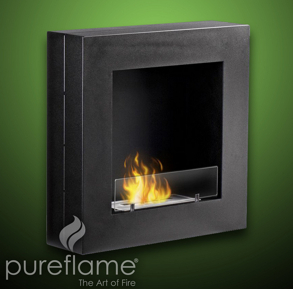 24 hayden wall mounted biofuel fireplace for 24 wall mount electric fireplace