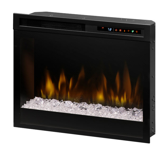 "Plug In Electric Fireplace Inserts: 23"" Dimplex Multi-Fire XHD Plug-In Acrylic Ice Infrared"