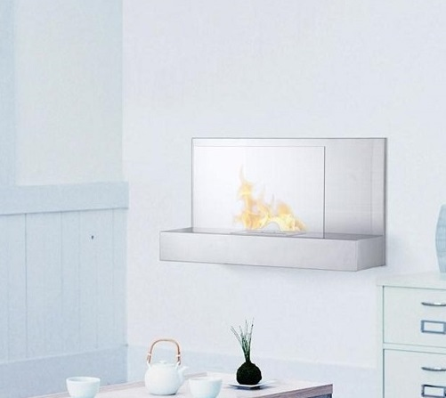 35 4 Ignis Ater Ss Wall Mounted Ventless Ethanol Fireplace