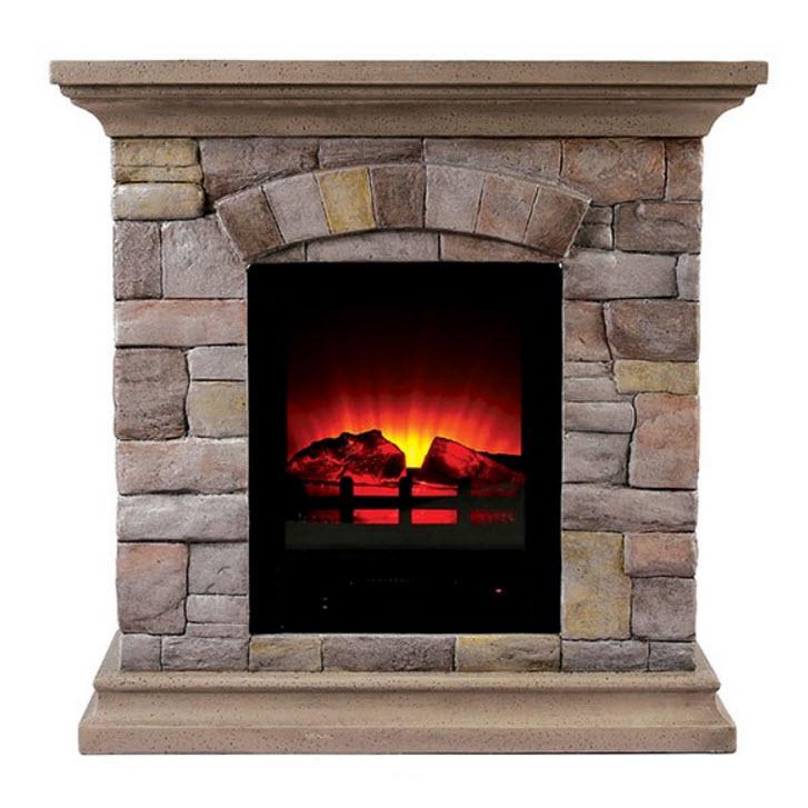 29 5 Juna Faux Stone Electric Fireplace