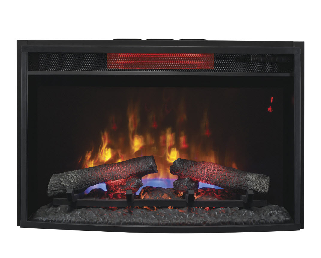 "25"" Infrared electric fireplace insert is able to heat a room of up to 1000 square feet and maintains a moist"
