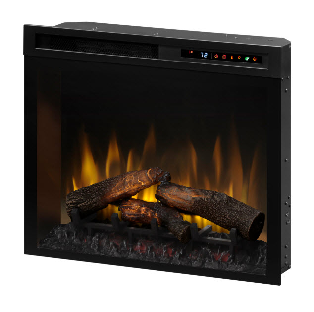 "Plug In Electric Fireplace Inserts: 28"" Dimplex Multi-Fire XHD Plug-In Infrared Electric"