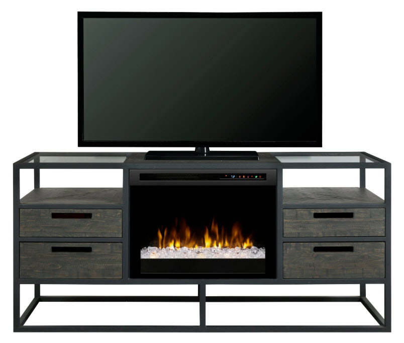 58 dimplex ivan media console fireplace with glass ember - Going to bed with embers in fireplace ...